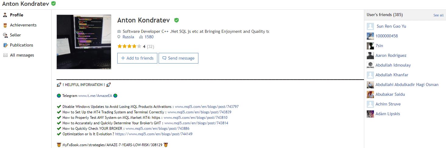 Amaze developer profile