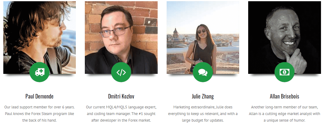 The team leaders