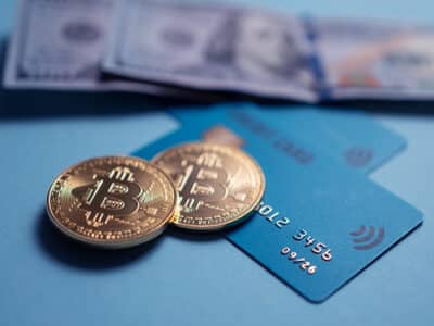 crypto currency bit coin and debit bankin card