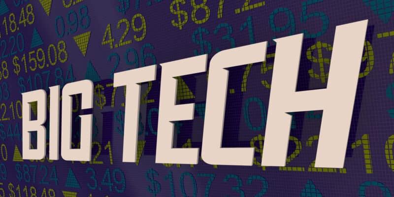 Big Tech Giant Technology Companies Stock Market Leaders 3d Illustration