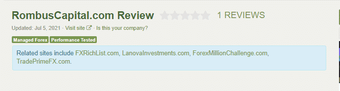 Rating present at Forex Peace Army