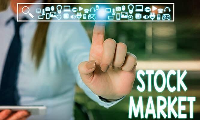 Handwriting text writing Stock Market.