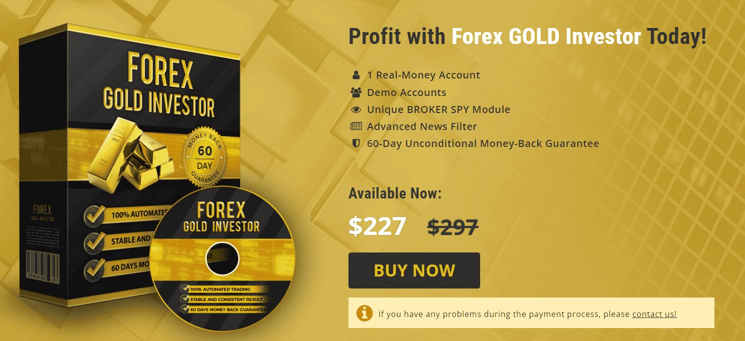 Forex Gold Investor pricing